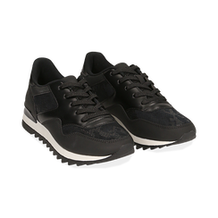 Sneakers nere in eco-pelle con dettagli snake print,