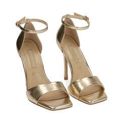 Sandali oro laminato, tacco 11 cm , Primadonna, 172114210LMOROG036, 002 preview