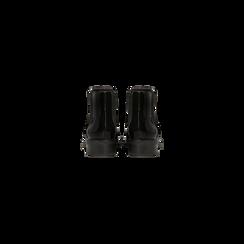 Chelsea Boots neri vernice con tacco basso, Scarpe, 120618208VENERO, 003 preview