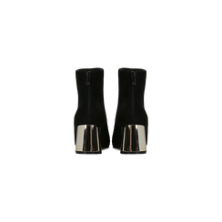 Tronchetti nero-oro con tacco scultura 6 cm, Scarpe, 122707125MFNEOR, 003 preview