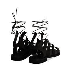 Sandales en daim noir, Primadonna, 178100348CMNERO035, 003 preview