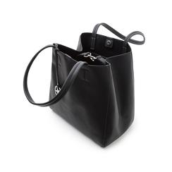 Maxi-bag nera in eco-pelle , Primadonna, 135786734EPNEROUNI, 004 preview
