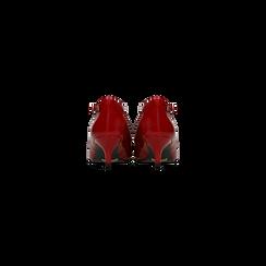 Décolleté rosse kitten heels in vernice, tacco 3 cm, Scarpe, 124951721VEROSS, 003 preview