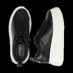 Zapatillas color negro, cuña 6,50 cm , Primadonna, 167505101EPNERO036, 003 preview