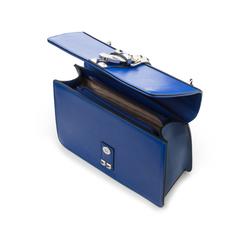 Borsa media blu in eco-pelle con borchie, Borse, 131992421EPBLUEUNI, 004 preview