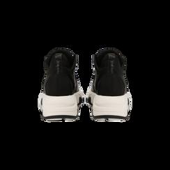 """Sneakers nere con zeppa effetto """"wave"""", Primadonna, 12A600999PENERO, 003 preview"""