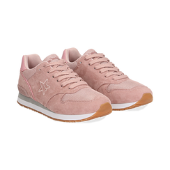 Sneakers rosa in microfibra , Scarpe, 132619078MFROSA036, 002 preview