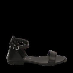 Sandales en cuir noir, Primadonna, 15K903944PENERO036, 001a