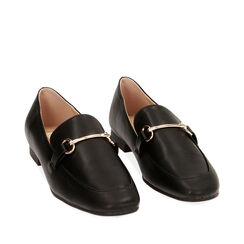 Mocassins noirs, Chaussures, 172760915EPNERO035, 002a