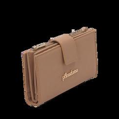 Portafogli nude in eco-pelle, Primadonna, 155122158EPNUDEUNI, 002a