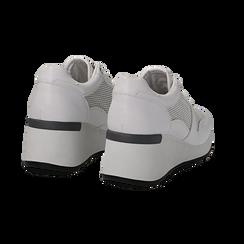 Sneakers bianche in eco-pelle con zeppa, Scarpe, 132008360EPBIAN036, 004 preview