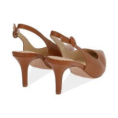 Slingback cognac, tacón 7 cm, Zapatos, 172133673EPCOGN037, 004 preview