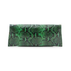 Pochette piatta verde in eco-pelle effetto snake, Borse, 145122509PTVERDUNI, 003 preview