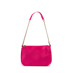Petit sac porté épaule fushia en microfibre, Primadonna, 155127201MFFUCSUNI, 001a