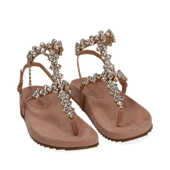 WOMEN SHOES FLAT MICROFIBER NUDE, Chaussures, 154951992MFNUDE036, 002a