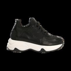 """Sneakers nere con zeppa effetto """"wave"""", Primadonna, 12A600999PENERO, 001 preview"""