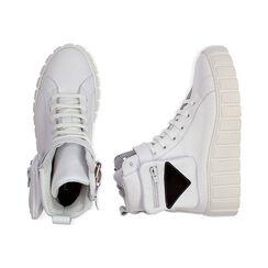 Baskets blanches en cuir, Primadonna, 17L645608PEBIAN036, 003 preview