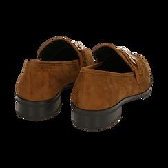 Mocassini cuoio in microfibra, Chaussures, 164964141MFCUOI041, 004 preview
