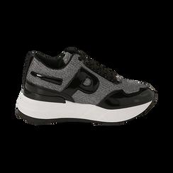 Sneakers canna di fucile glitter, suola 5,50 cm , Scarpe, 142898982GLCANN035, 001 preview
