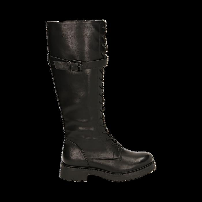 Boots à lacets noirs, Primadonna, 163003608EPNERO037