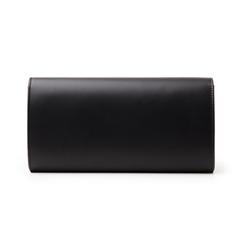 Pochette nera in eco-pelle, Borse, 145122502EPNEROUNI, 003 preview