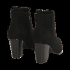 Ankle boots neri in microfibra, tacco 8,50 cm, Primadonna, 160585965MFNERO035, 004 preview