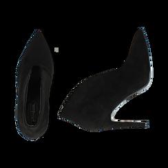 Ankle boots neri in microfibra, tacco 10,50 cm , Primadonna, 162123746MFNERO036, 003 preview
