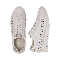 Sneakers bianche in eco-pelle , Scarpe, 130609571EPBIAN035, 003 preview