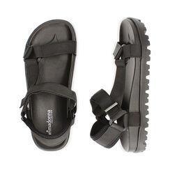 Sandales de plage en tissu noir, Primadonna, 170910057TSNERO035, 003 preview