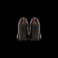 Francesine stringate marroni, tacco 9,5 cm, Primadonna, 129320059EPMARR, 003 preview
