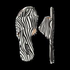 Mules flat zebrate in microfibra, Primadonna, 134989113MFZEBR036, 003 preview