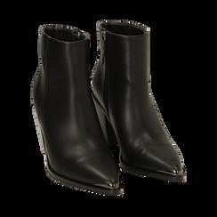 Camperos neri, tacco 8 cm , Primadonna, 162708151EPNERO037, 002 preview