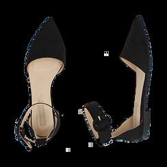 Bailarinas de microfibra en color negro, Primadonna, 154841142MFNERO036, 003 preview