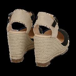 CALZATURA ESPADRILLAS MICROFIBRA NERO, Zapatos, 154922102MFNERO036, 004 preview