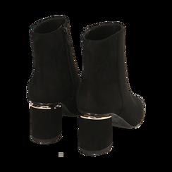 Ankle boots neri in microfibra, tacco 6,50 cm , Promozioni, 164981031MFNERO036, 004 preview