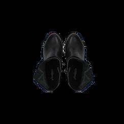 Tronchetti neri in vera pelle con fibbia rettangolare, tacco 5 cm, Scarpe, 127723803PENERO, 004 preview
