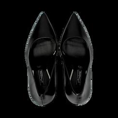 Décolleté nere con punta affusolata, tacco 9 cm, Primadonna, 128485101EPNERO, 004 preview