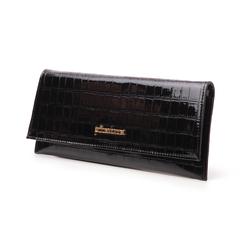 Pochette nera in vernice effetto cocco, Borse, 145122509VENEROUNI, 004 preview