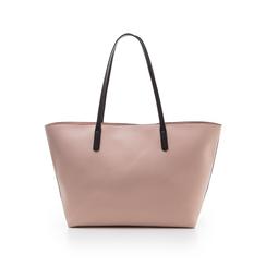 Maxi-bag rosa in eco-pelle con manici neri, Borse, 133783134EPROSAUNI, 003 preview
