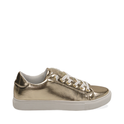 Sneakers oro in laminato, Sneakers, 152621201LMOROG035, 001a