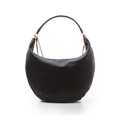 Hobo bag nera in eco-pelle, Borse, 133818123EPNEROUNI, 003 preview