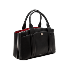 Mini bag nero-rossa in ecopelle, Saldi Borse, 122323219EPNERSUNI, 003 preview
