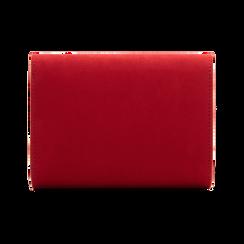Pochette rossa scamosciata con pon-pon, Saldi Borse, 123369415MFROSSUNI, 002 preview
