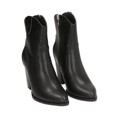 Camperos neri, tacco 9 cm, Primadonna, 154930037EPNERO037, 002a