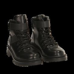 Botas militares en color negro, Primadonna, 160685307EPNERO035, 002a