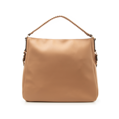 Maxi bag cuoio in eco-pelle con tracolla decor, Borse, 133881161EPCUOIUNI, 003 preview