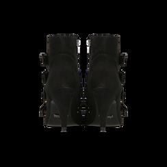 Tronchetti neri con fibbie metalliche, tacco 8 cm, Primadonna, 124988013MFNERO, 003 preview
