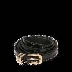 Cintura nera in vernice, Abbigliamento, 144024454VENEROUNI, 001a
