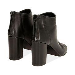 Tronchetti open toe neri in pelle, tacco 9 cm , Primadonna, 17A517014PENERO037, 004 preview