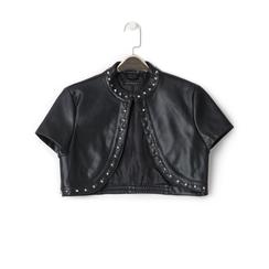 Giacca bolero nera in eco-pelle con borchie, Primadonna, 136518172EPNEROL, 001 preview